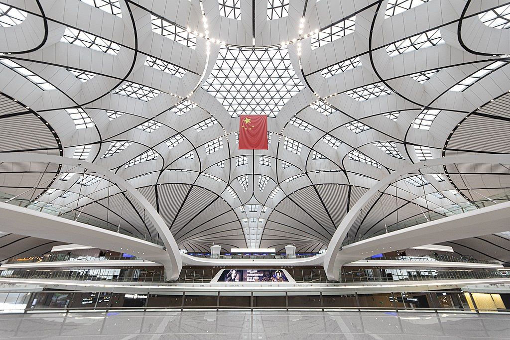 BEIJING DAXING AIRPORT - The central skylight is 45m high