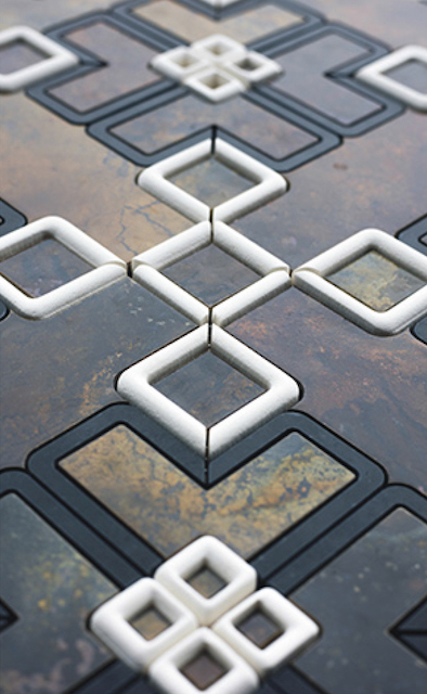3D Waterjet Mosaic Diamond